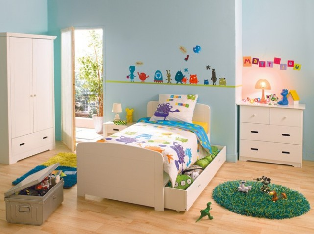 chambre d 39 enfant gar on 2014 3 d co. Black Bedroom Furniture Sets. Home Design Ideas
