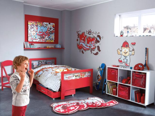 chambre d 39 enfant gar on 2014 5 d co. Black Bedroom Furniture Sets. Home Design Ideas