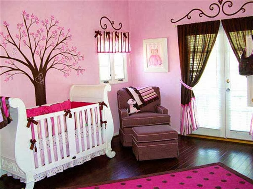 chambres de b b fille roses et magnifiques d co. Black Bedroom Furniture Sets. Home Design Ideas
