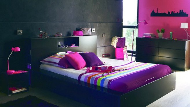 chambre d 39 ado fille 2014 1 d co. Black Bedroom Furniture Sets. Home Design Ideas