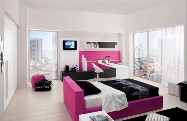 Chambre d 39 ado fille branch es 2 d co - Chambre de new york fille ...