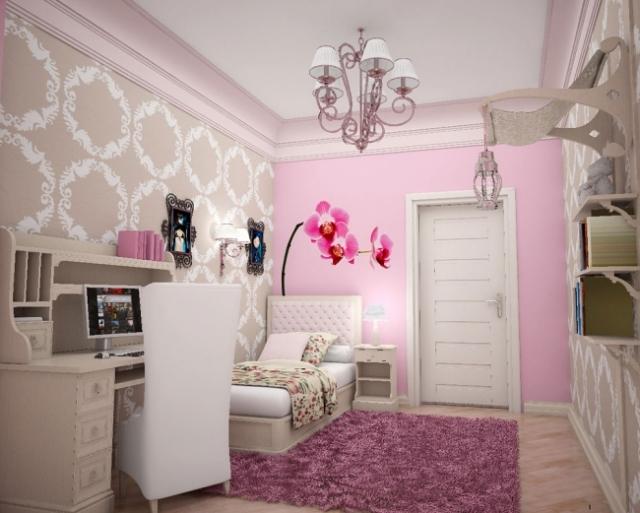 Chambre d 39 ado fille branch es 6 d co - Decoration princesse chambre fille ...