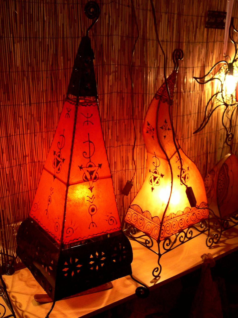 Lampes marocaines fer forg 5 d co for Lampe de chevet fer forge