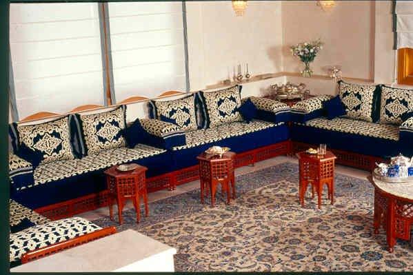 Salons marocains 2015 traditionnels 3 d co for Salon marocain bleu roi