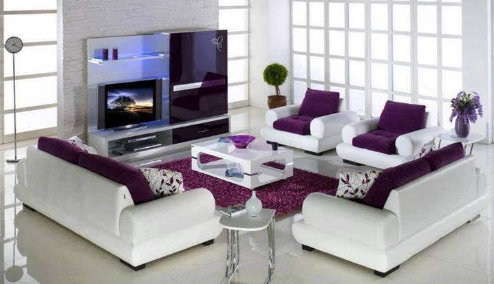 Stunning Deco Salon Moderne Violet Ideas - Design Trends 2017 ...