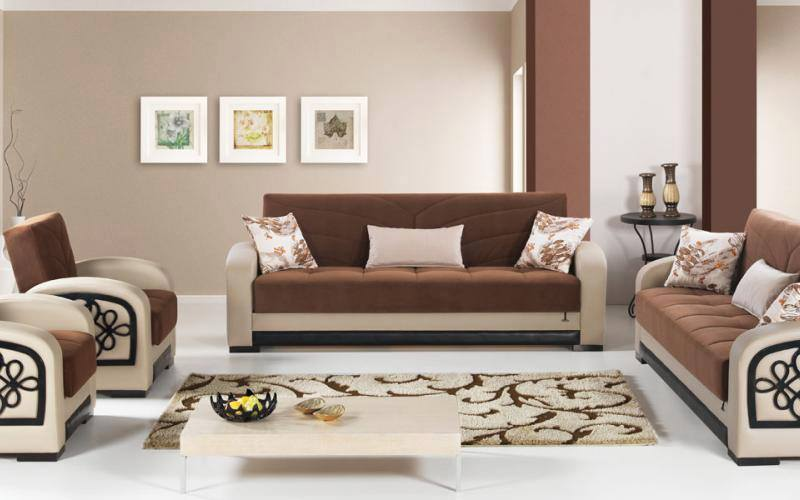 Salon moderne marron beige - Decoration salon beige et marron ...
