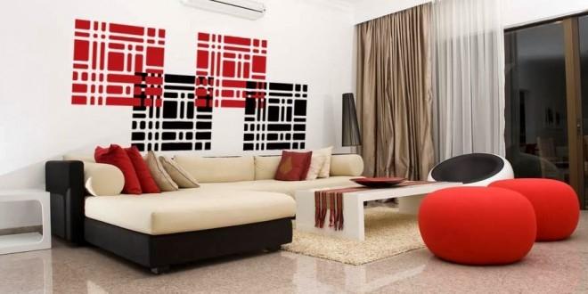 Salons Modernes 2015 Rouge | Déco