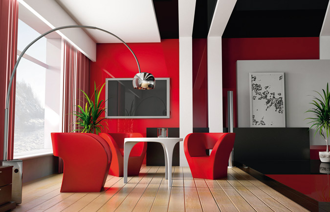 salons modernes 2015 rouge 4 d co. Black Bedroom Furniture Sets. Home Design Ideas
