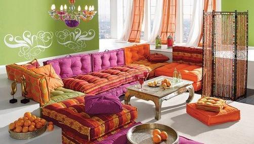 Salon Marocain 2015 Mauve : Salons marocains colorés déco