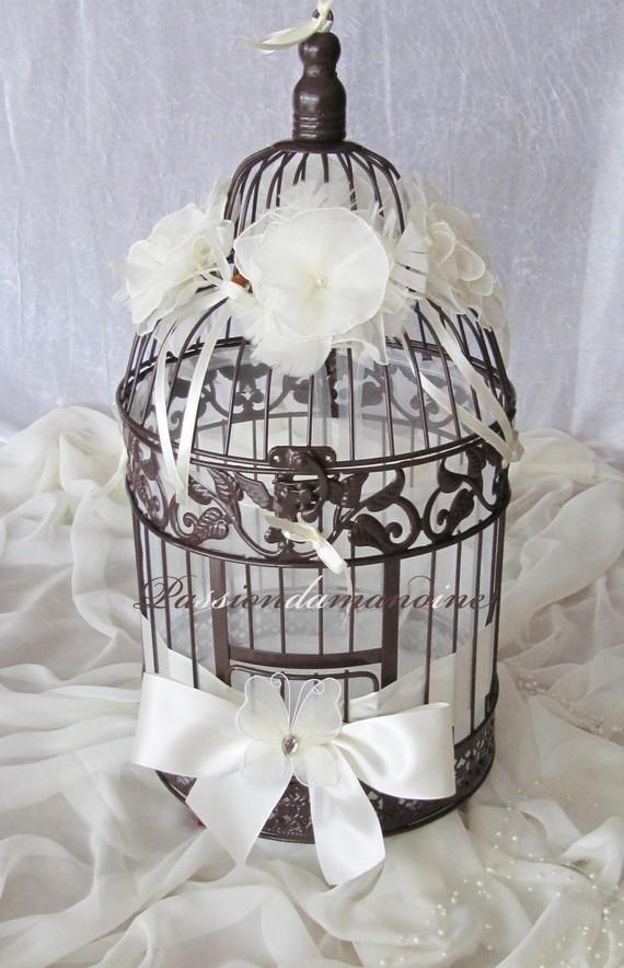 Chambre A Coucher Adulte : Très belle urne de mariage sous forme de cage à oiseaux en fer …