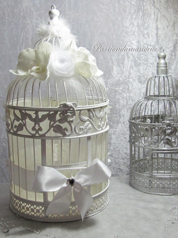 urne mariage cage oiseaux 6 - Urne Mariage Cage