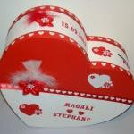 Urne Mariage Coeur - 9