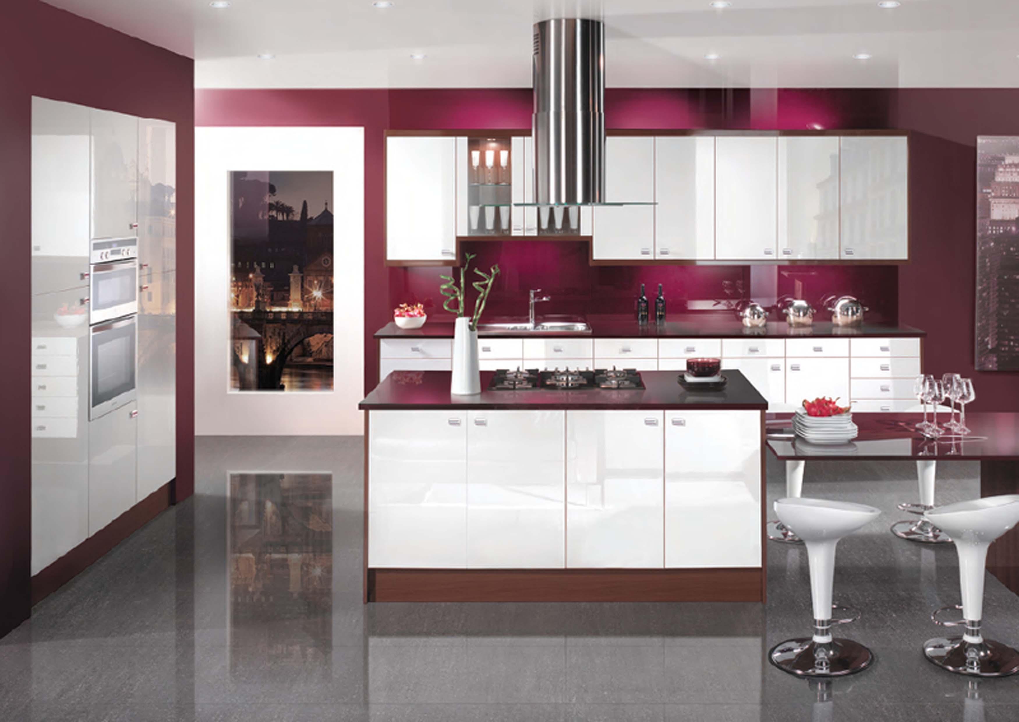 Tapis Chambre Bebe Soldes :  cuisine moderne, pratique et fonctionnelle 2015 cuisine violette et