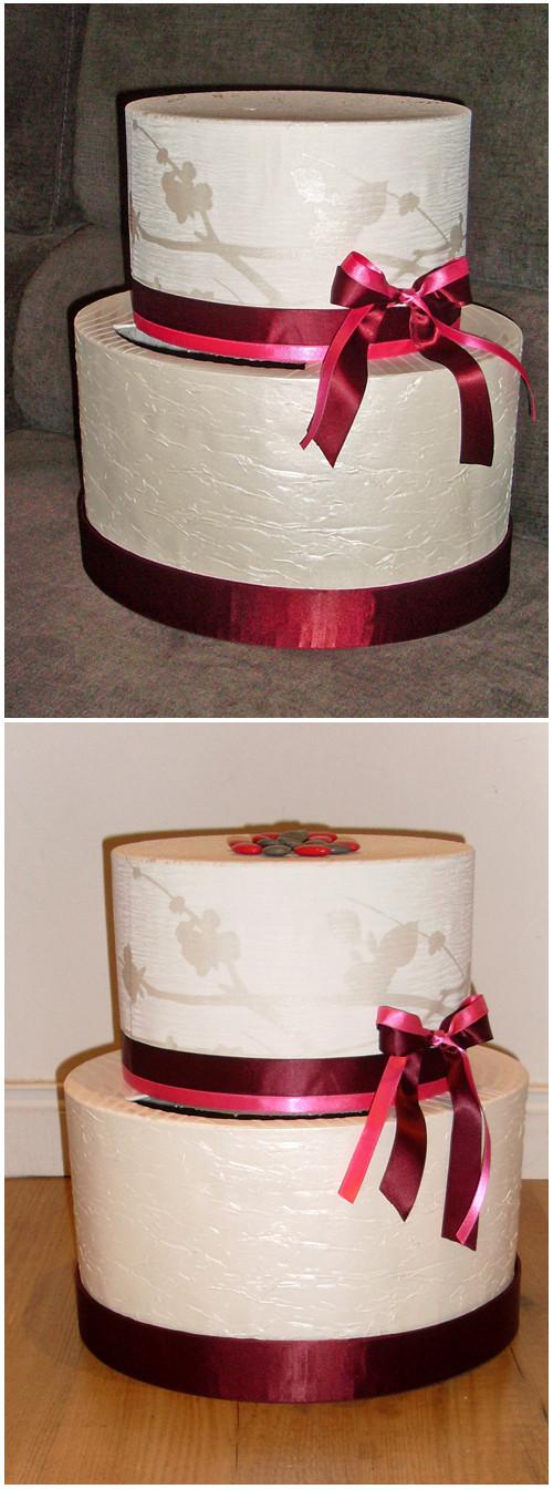 cr ation urne mariage g teau d co. Black Bedroom Furniture Sets. Home Design Ideas
