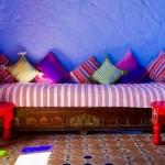 Salons Marocains le charme du mauve