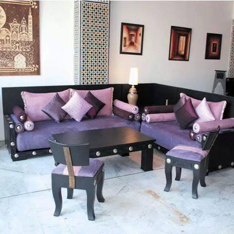 Salons marocains le charme du mauve d co for Salon mauve