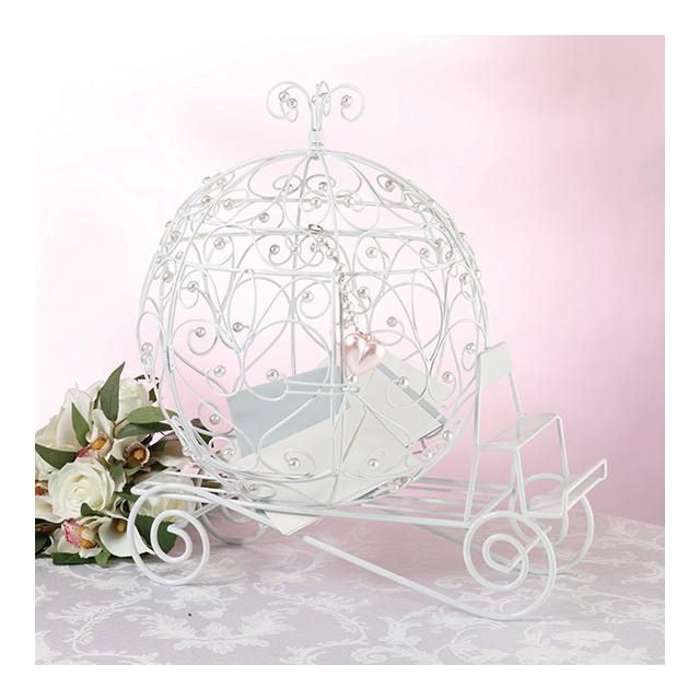 Urne mariage carrosse soiez la princesse de votre soir e for Decoration urne de mariage