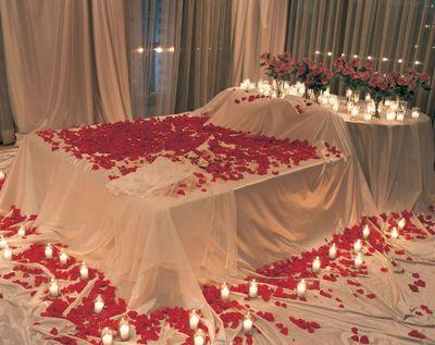 Chambre à Coucher Romantique Pour La Saint Valentin Déco - Romantiques idees de decoration de chambre pour saint valentin