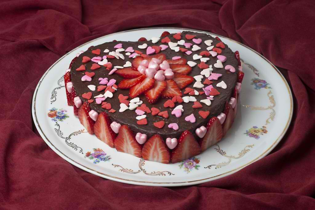 decoration gateau st valentin