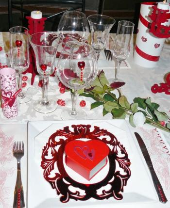 D coration de tables pour la saint valentin 3 d co for Decoration exterieur st valentin