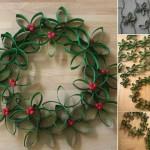 Couronne de Noël Originale DIY - Méthode 1