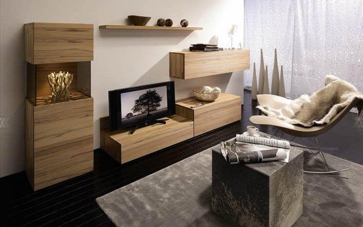 Salon bois for Deco salon noir et bois