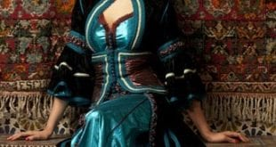 Caftan 2 pièces Marron-Turquoise