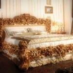 Chambre à coucher Doré-Blanc cassé