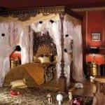 Chambre à coucher Moutarde-Acajou