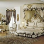 Chambre à coucher Royale Blanc cassé-Doré