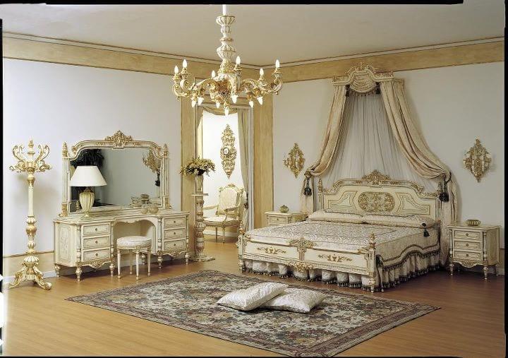 Chambre coucher royale blanc cass dor 2 - Deco chambre dore ...