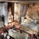 Chambre à coucher Royale Blanc cassé-Doré 3