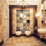Décoration d'intérieur: La Collection Sales de Bain - Sale de bain Marbre Marron