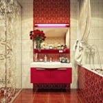 Décoration d'intérieur: La Collection Sales de Bain - Sale de bain Rouge-Rose