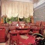 Salon marocain Acajou-Blanc cassé