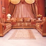 Salon marocain Acajou-Moutarde