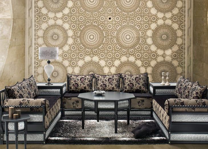 Salon Marocain 2015 Mauve : Salon marocain gris beige mauve