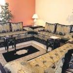 Salon marocain Noir-Doré-Argenté