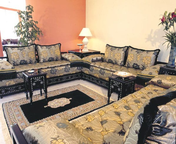 salon marocain noirdor233argent233