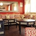 Salon marocain Rouge-Blanccassé