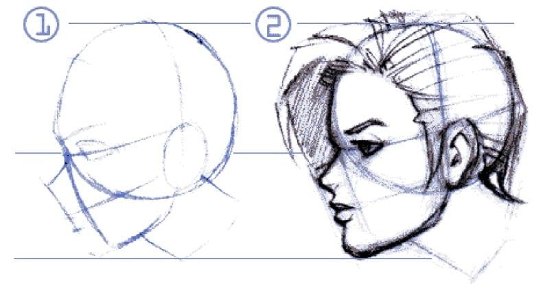 Tutoriel dessin visage profil - Dessin profil visage ...
