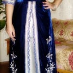 Caftan Marocain Bleu-Blanc
