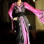 Caftan Marocain Rose-Noir
