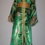 Caftan Marocain Vert-Doré