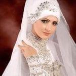 ربطات حجاب للعرائس 1