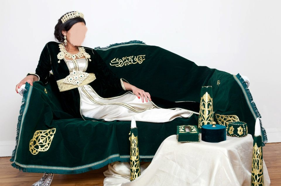 قفاطين العروس المغربية – قفطان الحناء