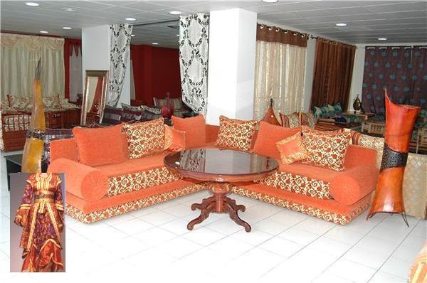 Stunning Salon Marocain Moderne Orange Marron Photos - Amazing ...