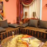 Salon Marocain Gris-Moutarde