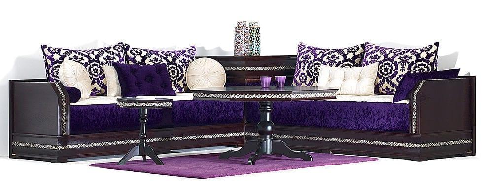 Salons marocains une nouvelle collection des salons marocains modernes d c - Salon en tissus moderne ...