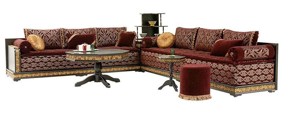 Salon marocain polyester - Model coussin marocain ...